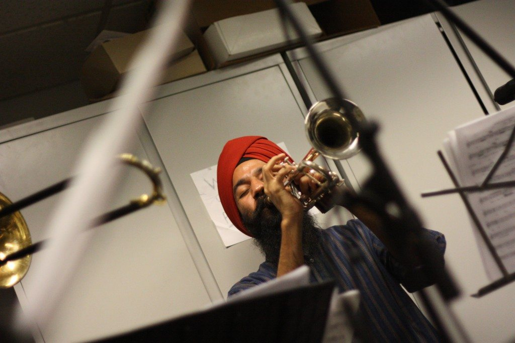 Sonny Singh at WKCR - Photo by David Ellenbogen